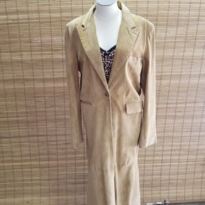 Victoria's Secret Suede Coat Full Length